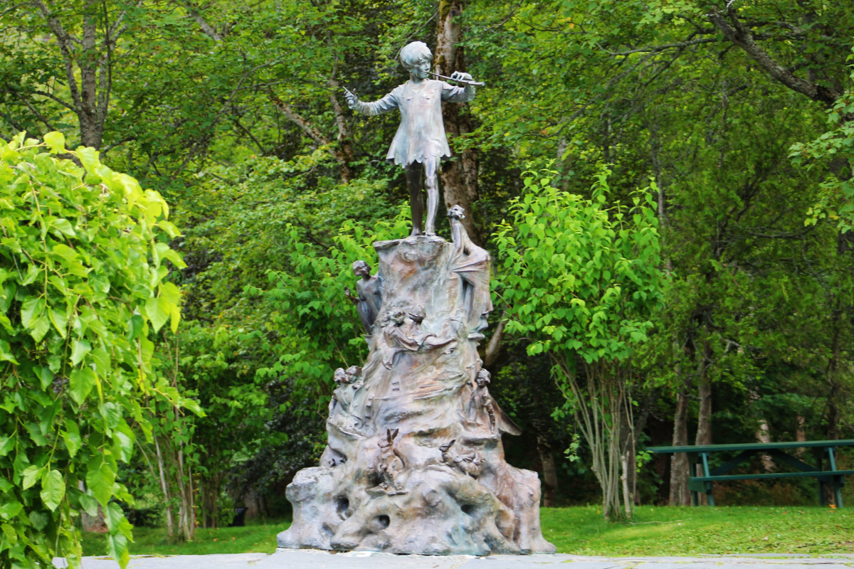 The Peter Pan Statue in Bowring Park that Sir Edgar Bowring had commissioned in memory of his granddaughter, Betty Munn, who lost her life on the Florizel.