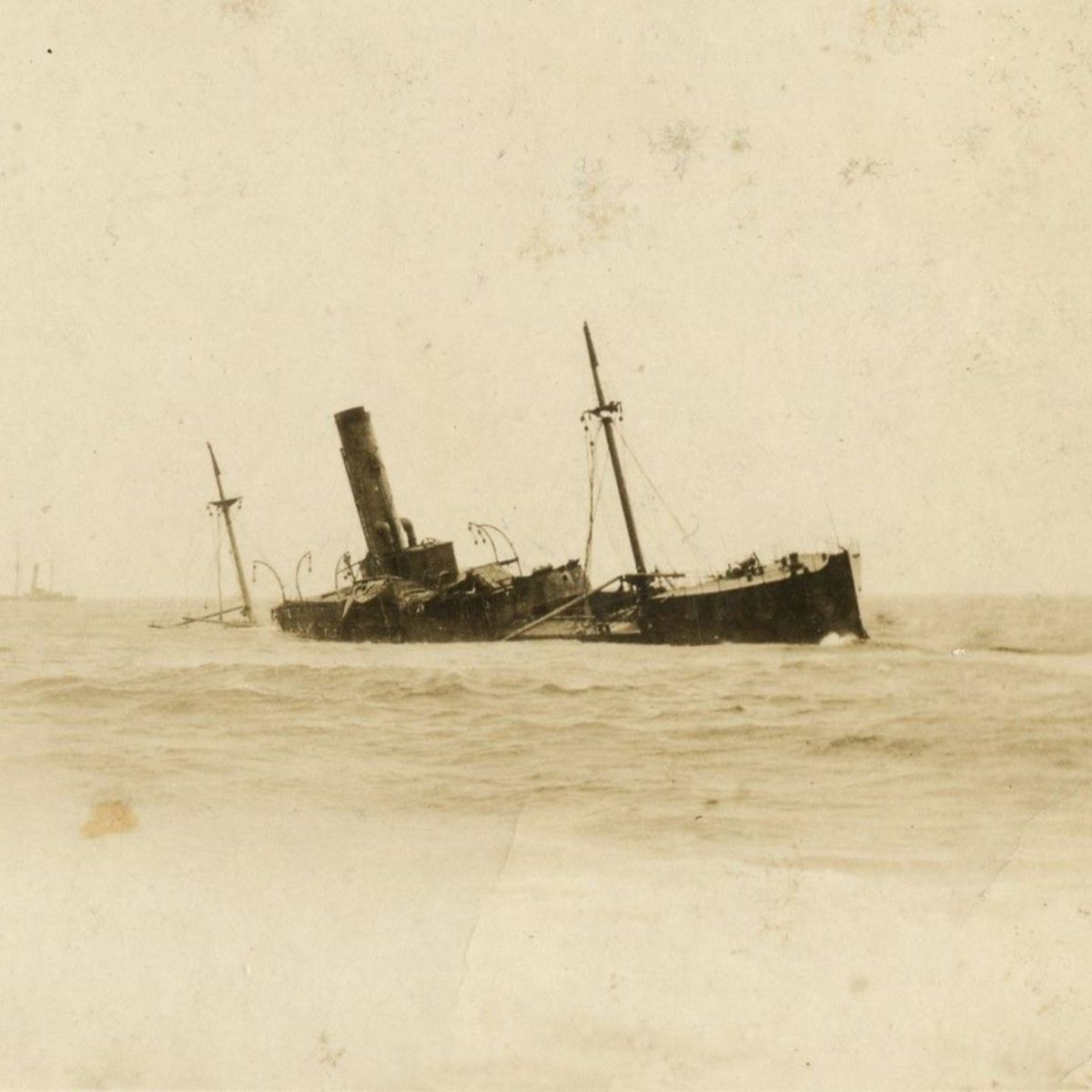 The SS Florizel aground on Horn Head Point.