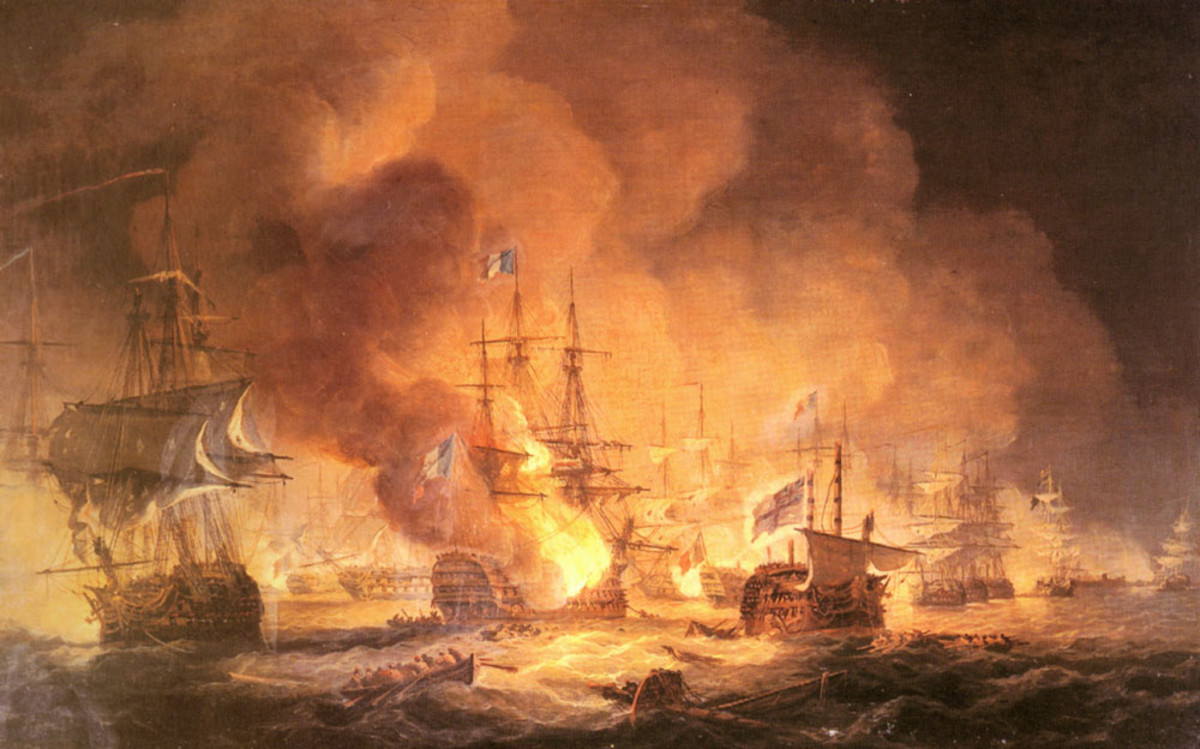 'Battle of the Nile' by Thomas Luny