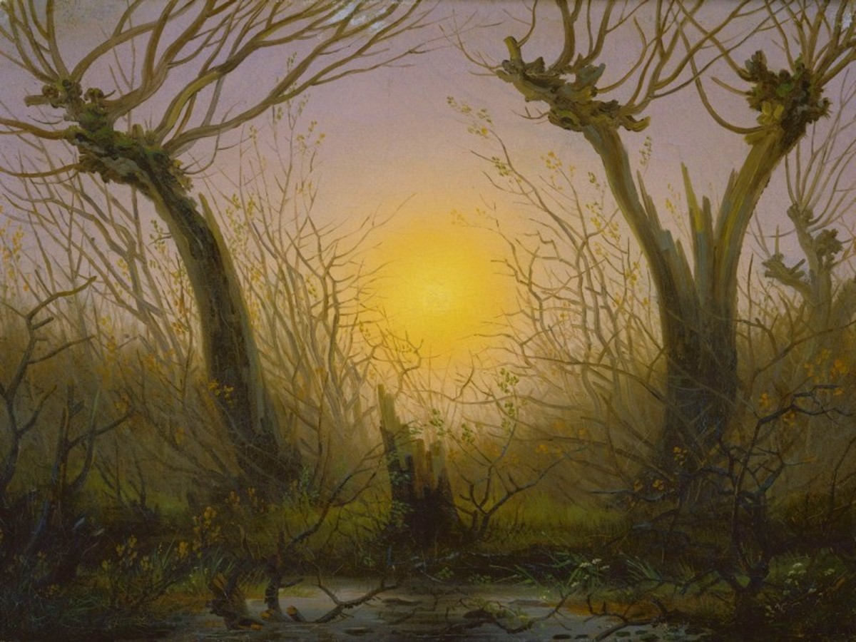 'Willow Bush under a Setting Sun' by Caspar David Friedrich