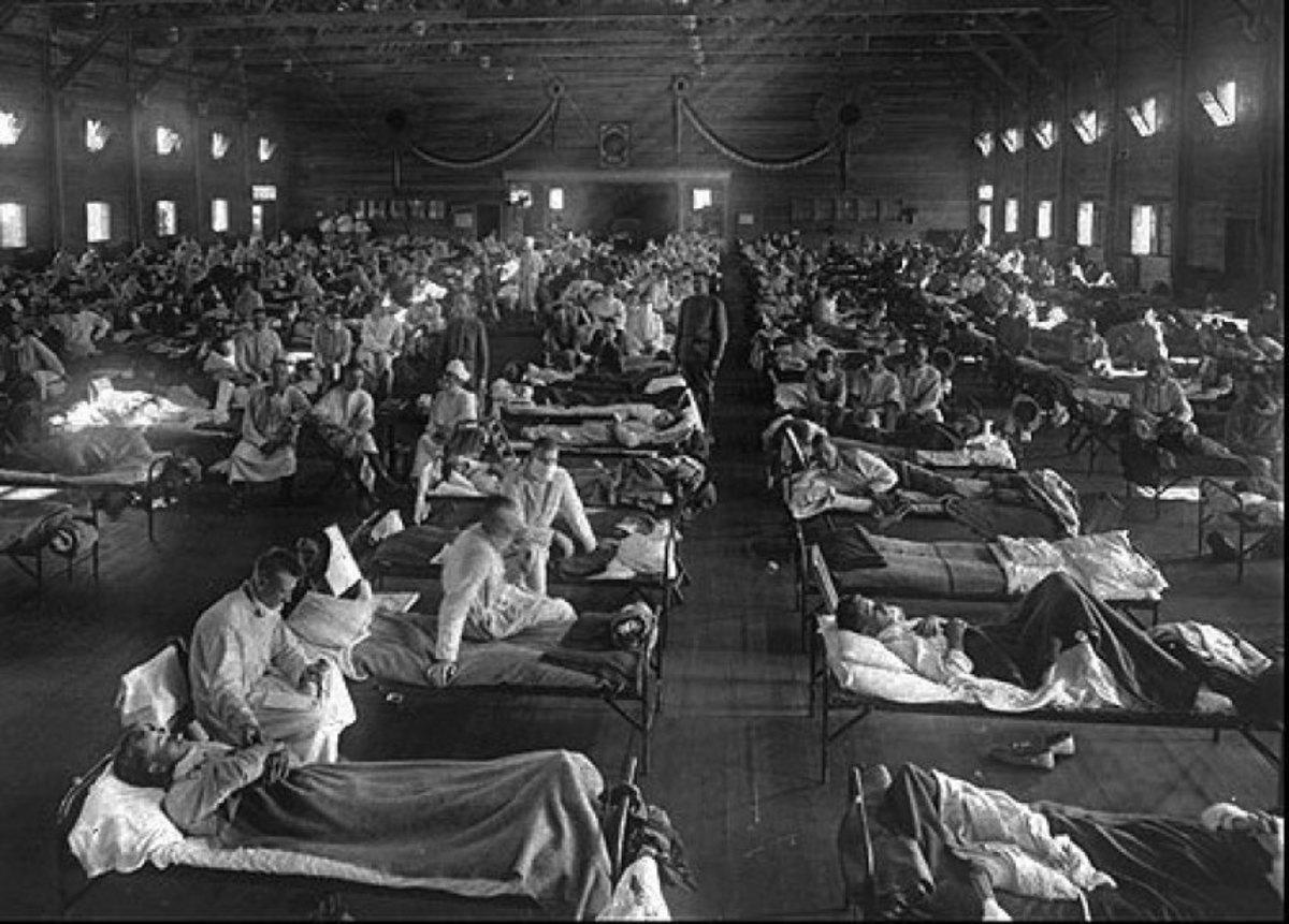 Spanish flu pandemic in 1918 claimed 20-50 million lives...