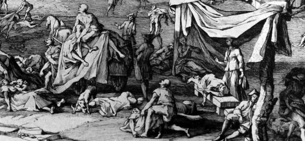 The great plague of London killed 100,000...
