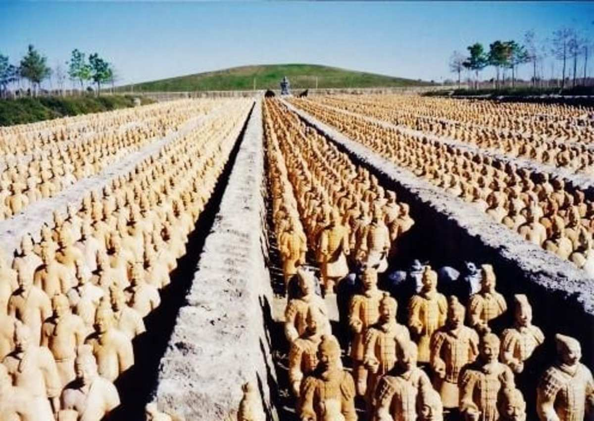 Photo of Emperor Qin's terra cotta army in Katy, Texas