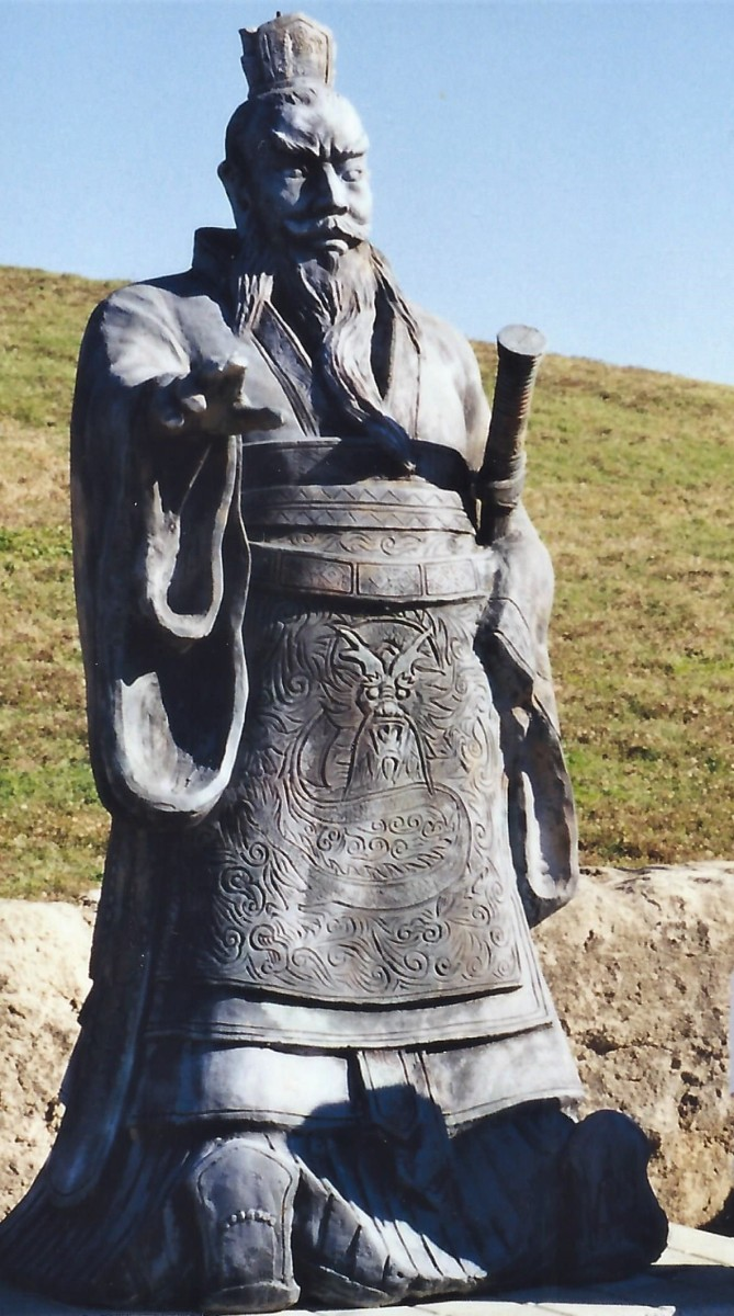 Sculpture of Emperor Qin at the Forbidden Gardens