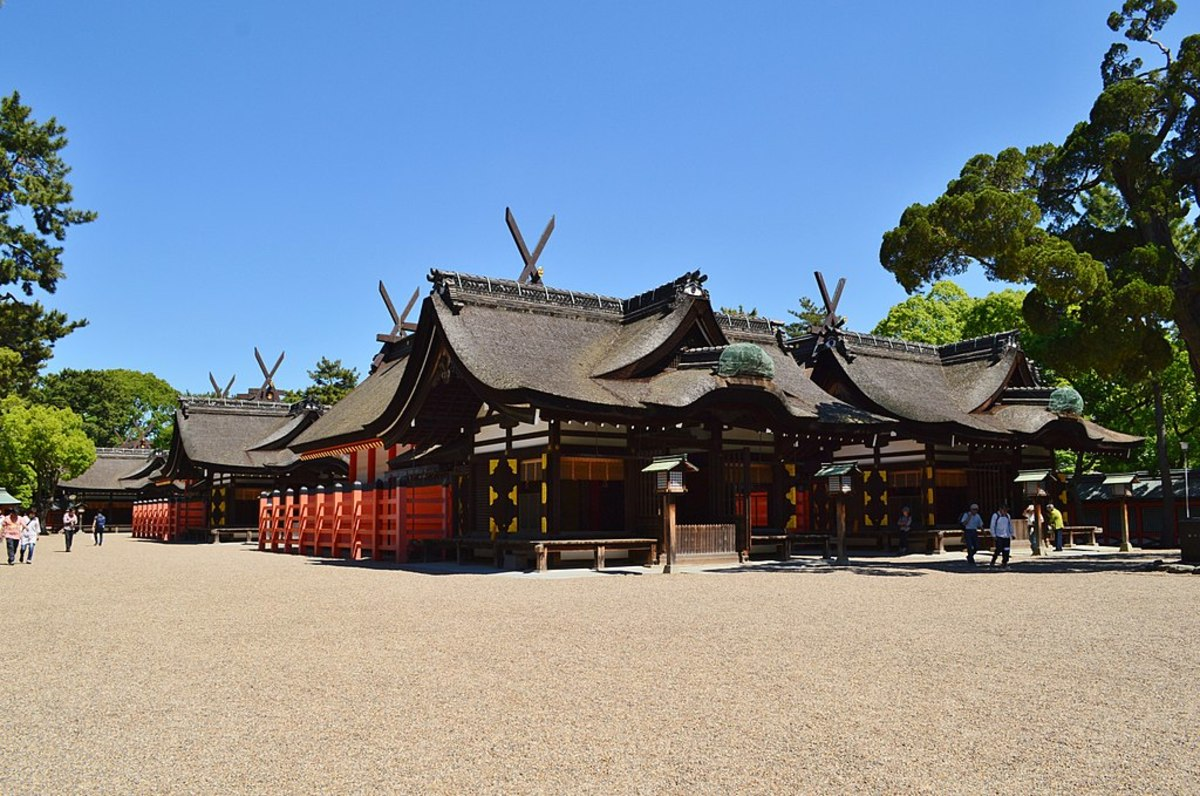 The beautiful Sumiyoshi Taisha Shrine in Osaka.