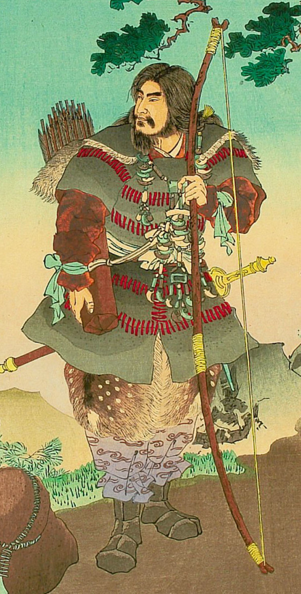 Classic depiction of Emperor Jimmu.