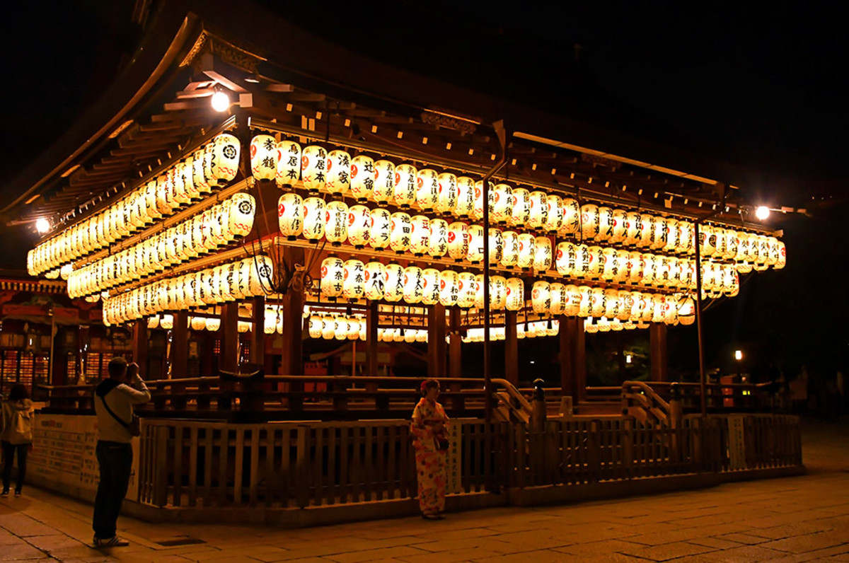 "Kyoto's world-famous Yasaka Shrine is dedicated to Susanoo, Kushinada-Hime, and eight of Susanoo's children. Their stories are ""recorded"" in detail in both the Kojiki and Nihon Shoki."
