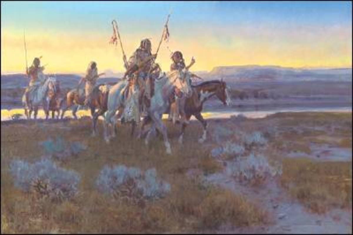 Charles Marion Russell depicted a mythic American West in his paintings.