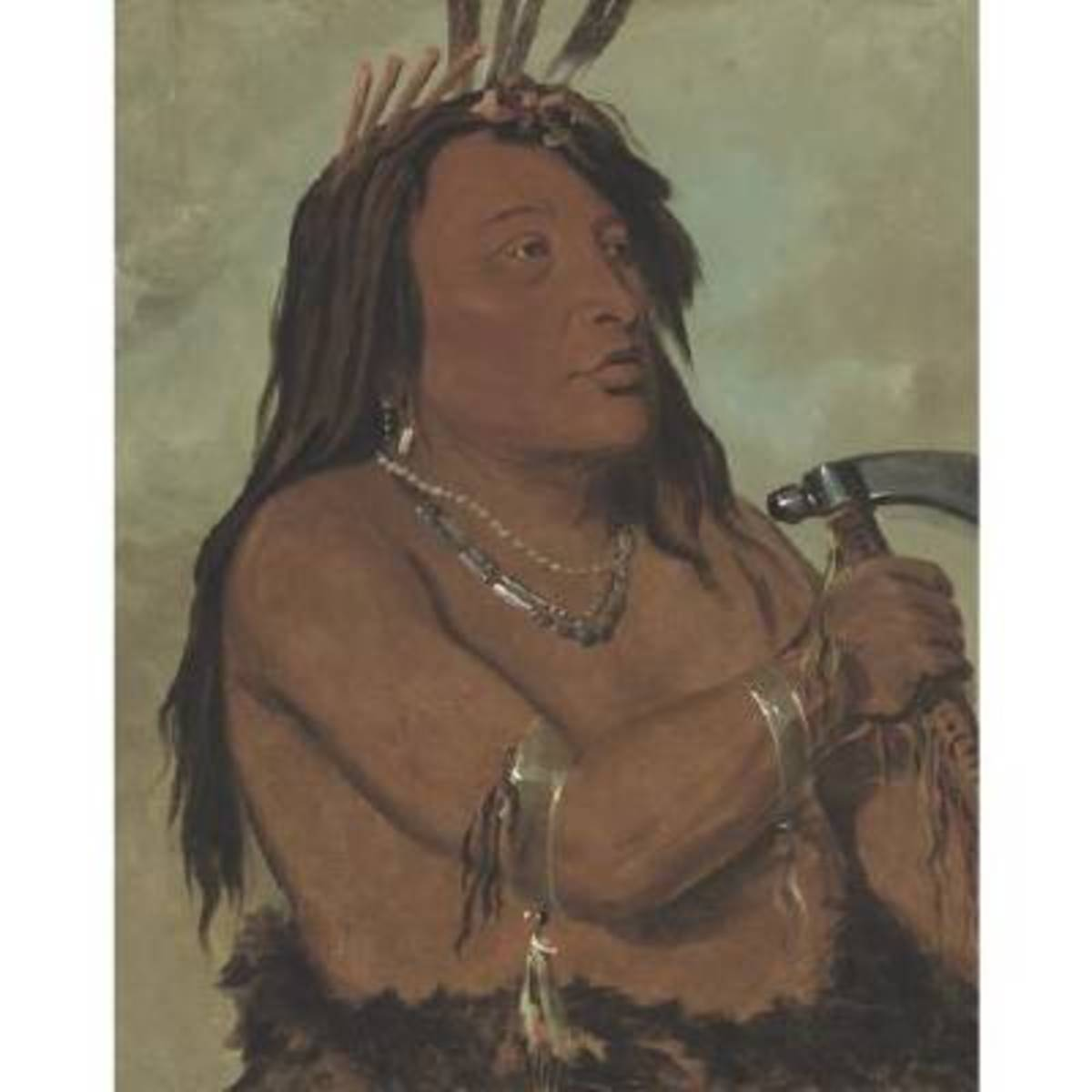 Catlin traveled among tribal groups with greater safety than most other settlers of European descent. This was because the Native Americans valued Catlin's record of their tribal societies.