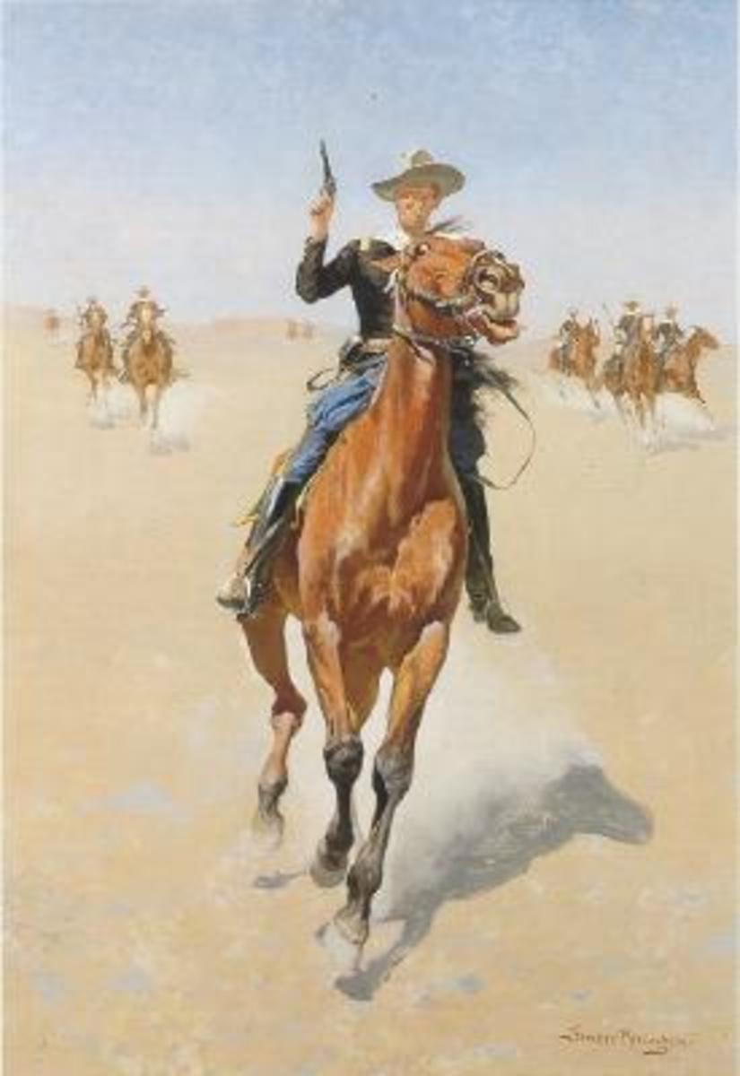 "Frederic Remington, ""The Trooper."" Remington had a flourishing career illustrating stories of the American West for magazines."