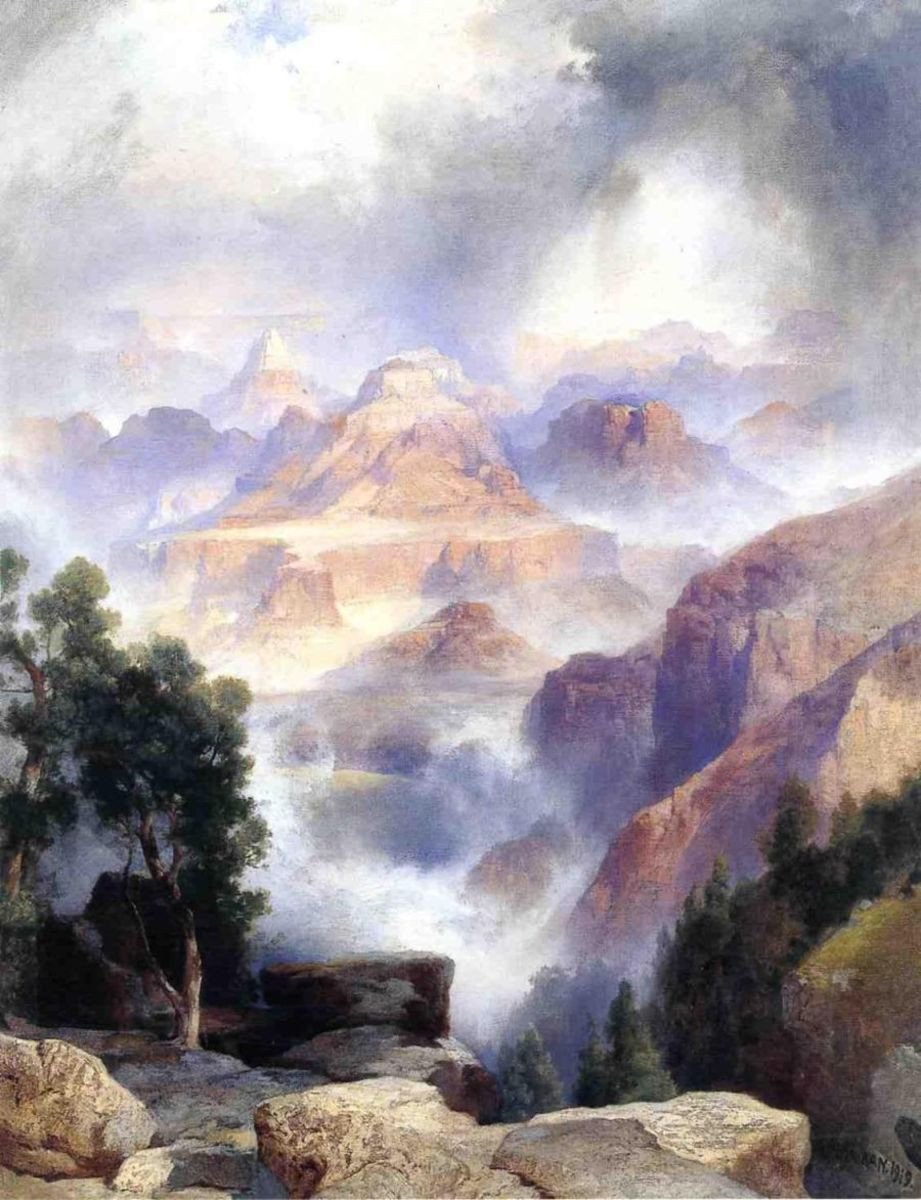 "Thomas Moran, ""Showery Day Grand Canyon"""