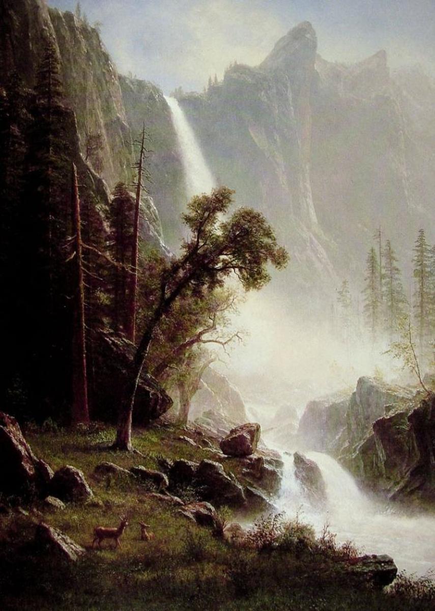 "Alfred Bierstadt, ""Bridal Veil Falls"""