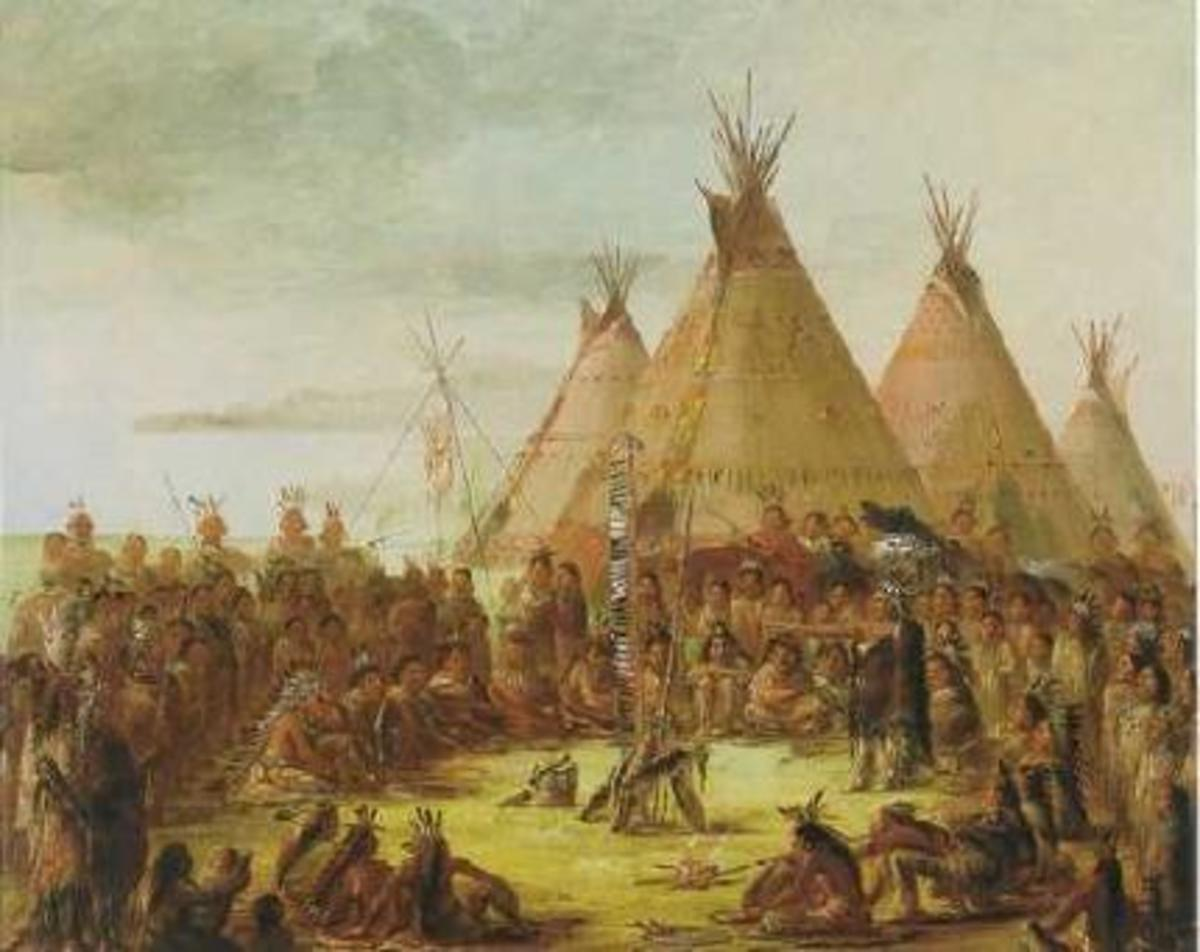 George Catlin's work depicted life among Native American societies.