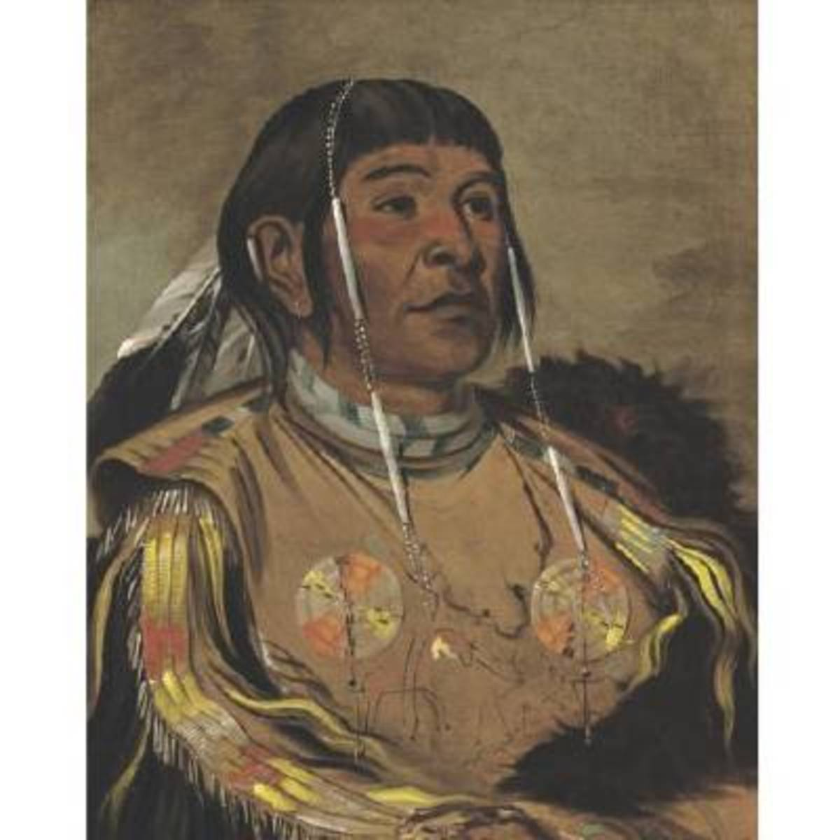 Catlin's extensive collection of tribal portraits has visually preserved information about the dress and hairstyles of hundreds of Native American tribes.