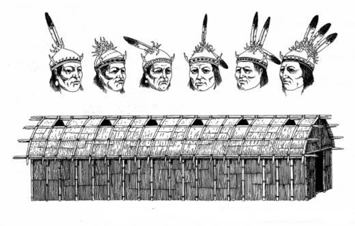 The lineup of the Six Nations Chiefs of the Iroquois Confederacy is analogous to the Longhouse.