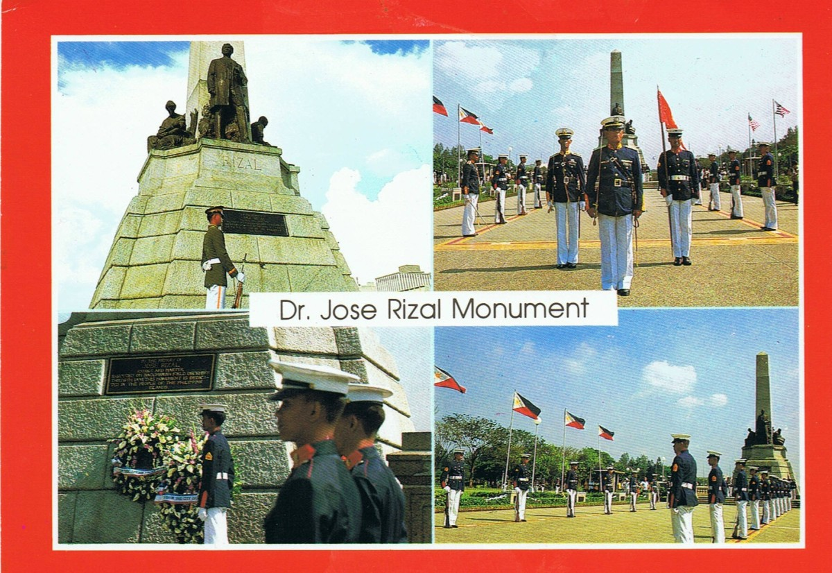 Dr.Jose Rizal Monument - site of countless wreath-laying activities year round honouring the national hero.