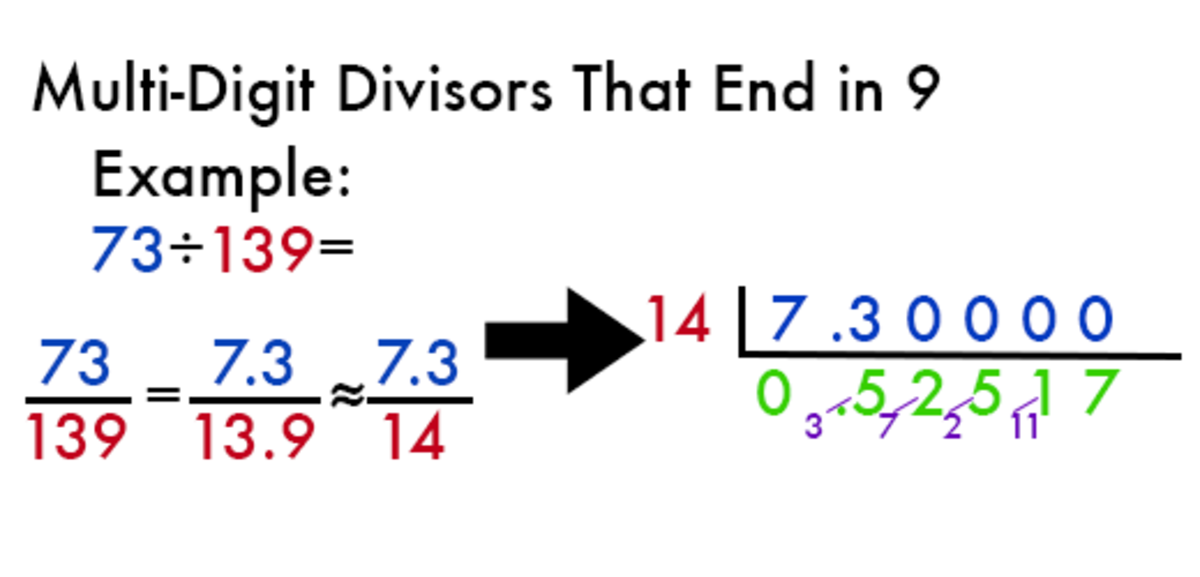 Vedic division example with a divisor that ends in 9.