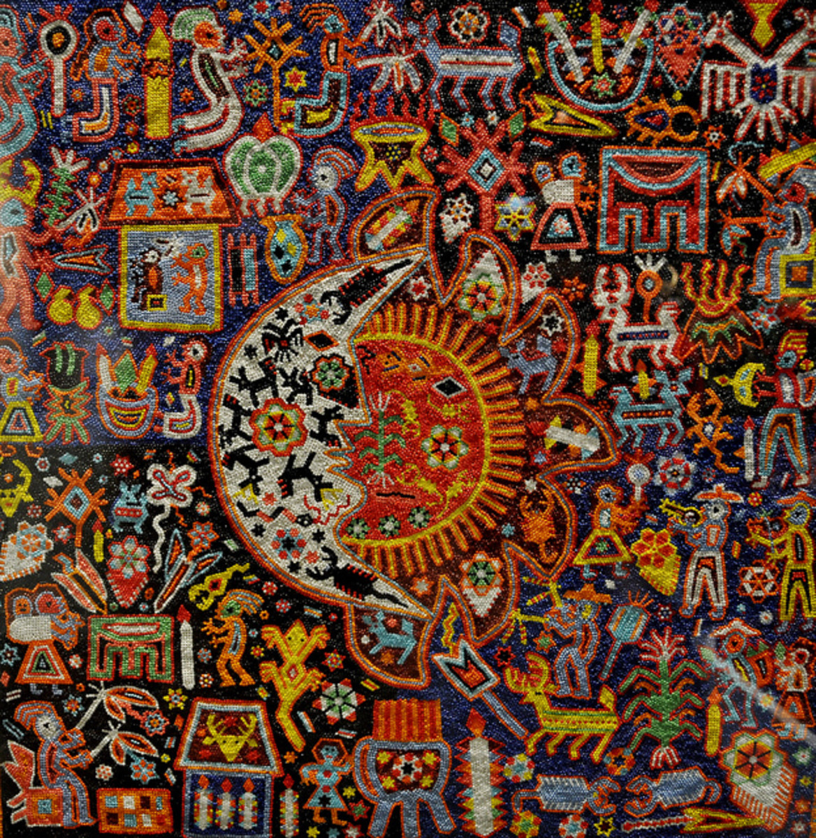Huichol beaded art piece.
