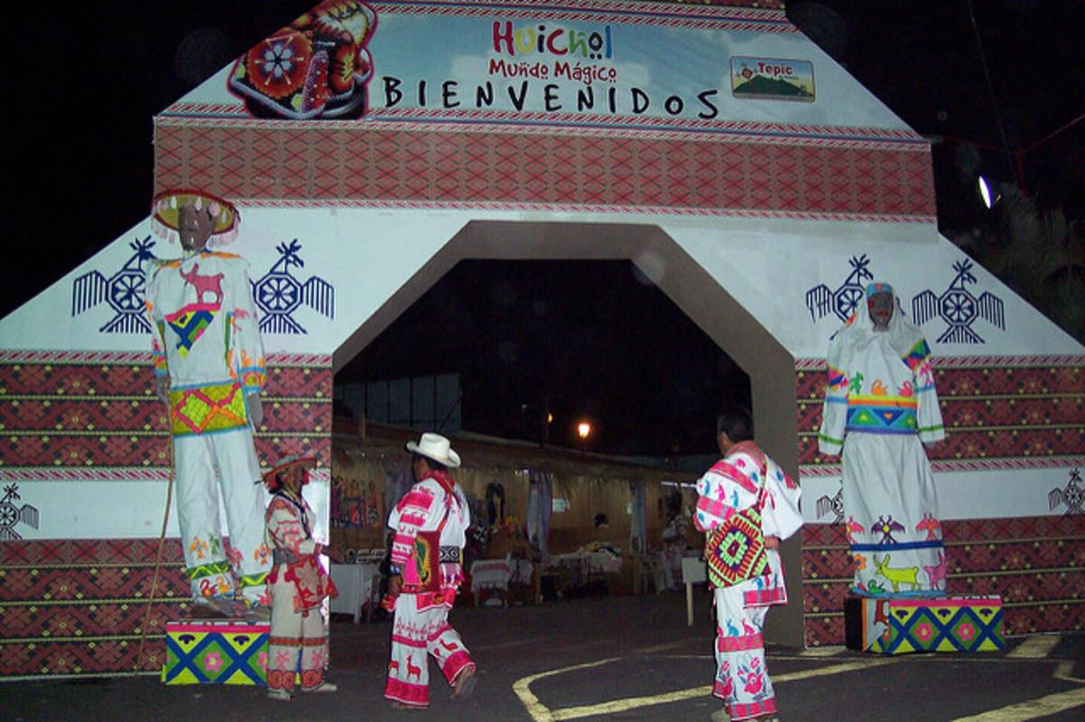 A Huichol gathering.
