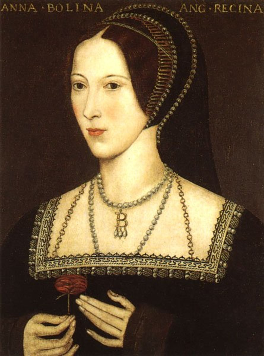 Anne Boleyn as Queen of England, painted about 1534.