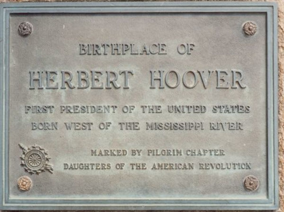 The cottage where Herbert Hoover was born.