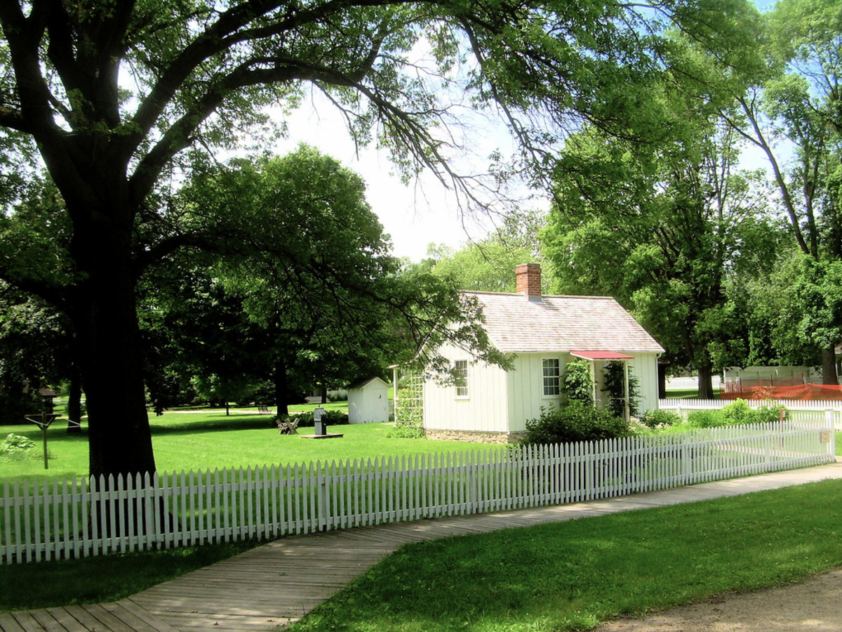The Birthplace of President Herbert Hoover, West Branch, Iowa.