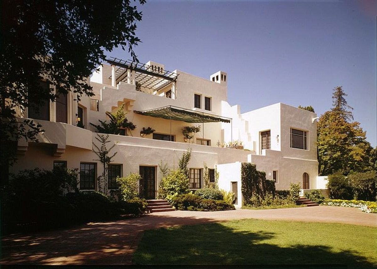 View of Lou Henry and Herbert Hoover House from the east — Stanford University, Palo Alto, California
