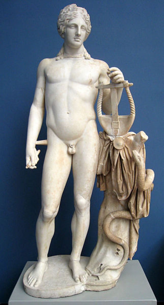 Apollo is often depicted playing the lyre.