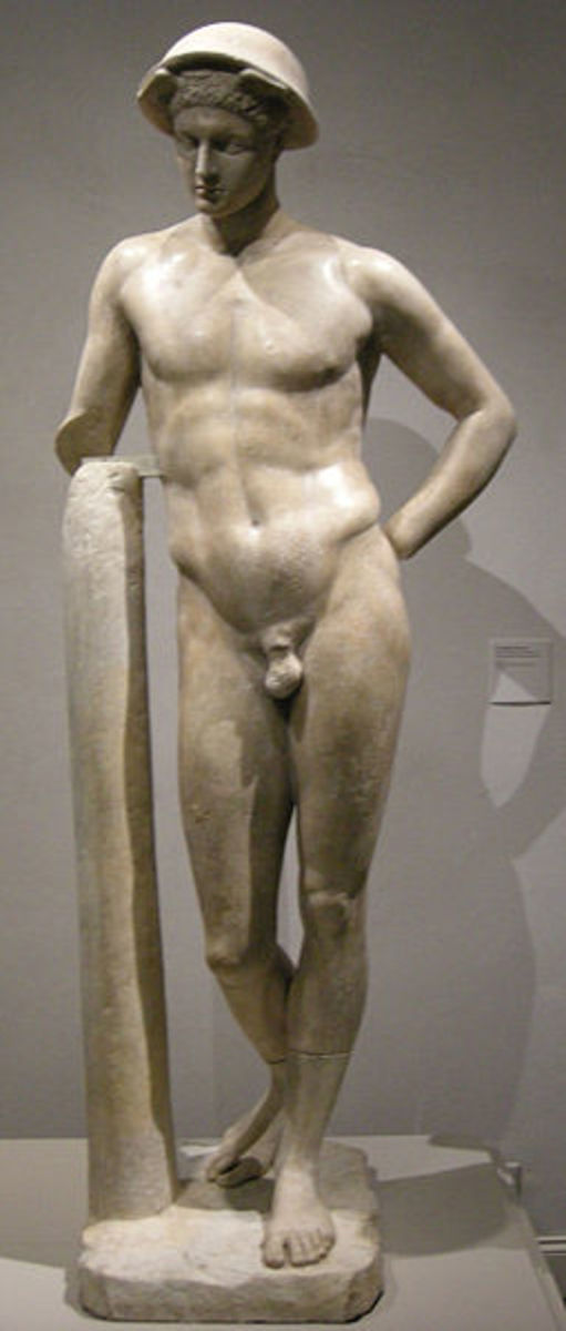 Hermes God of Messengers, travellers, trade and thieves.