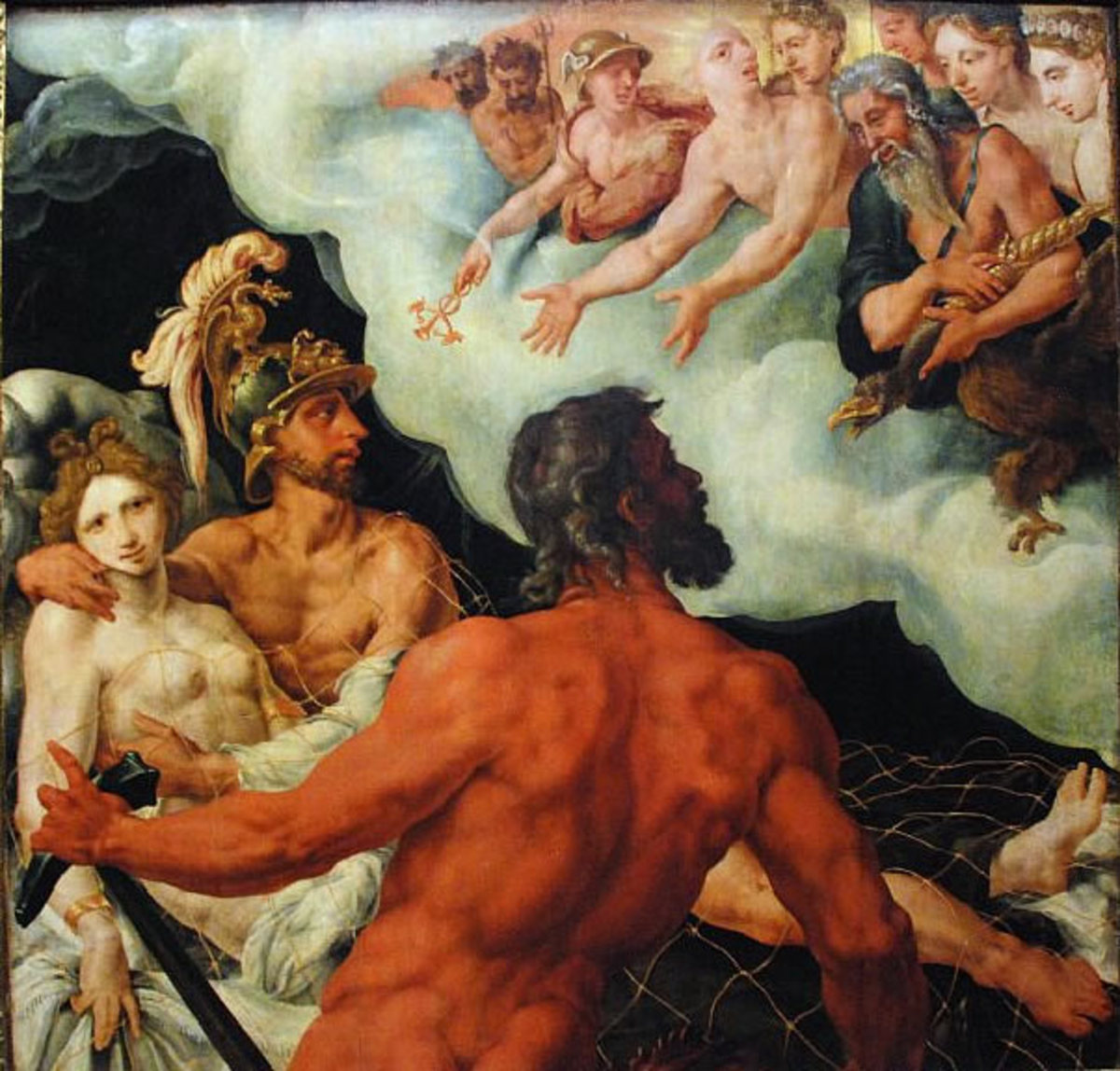 Venus, Vulcan and Mars by Maarten van Heemskerck, 1540.