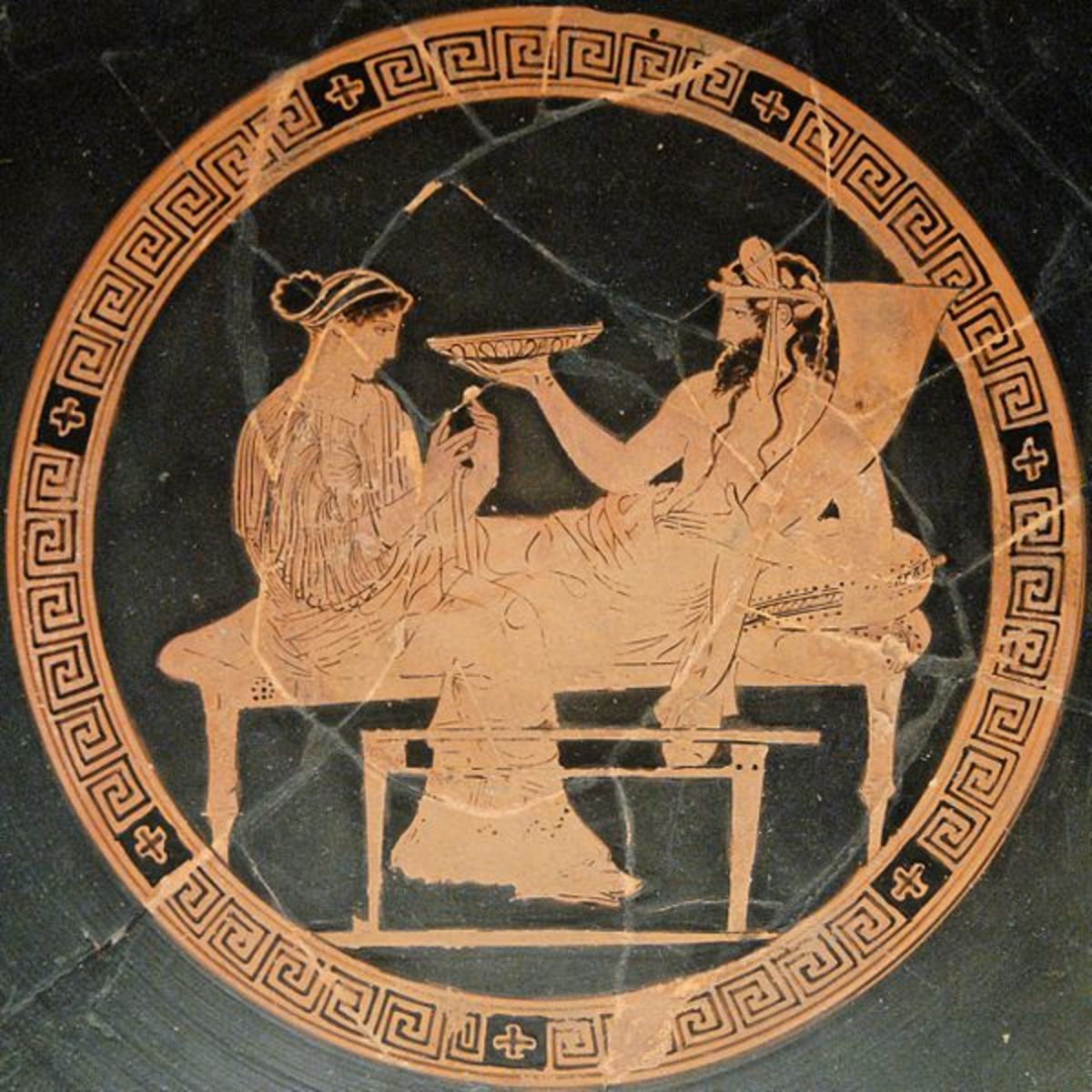 Hades and his wife Persephone.