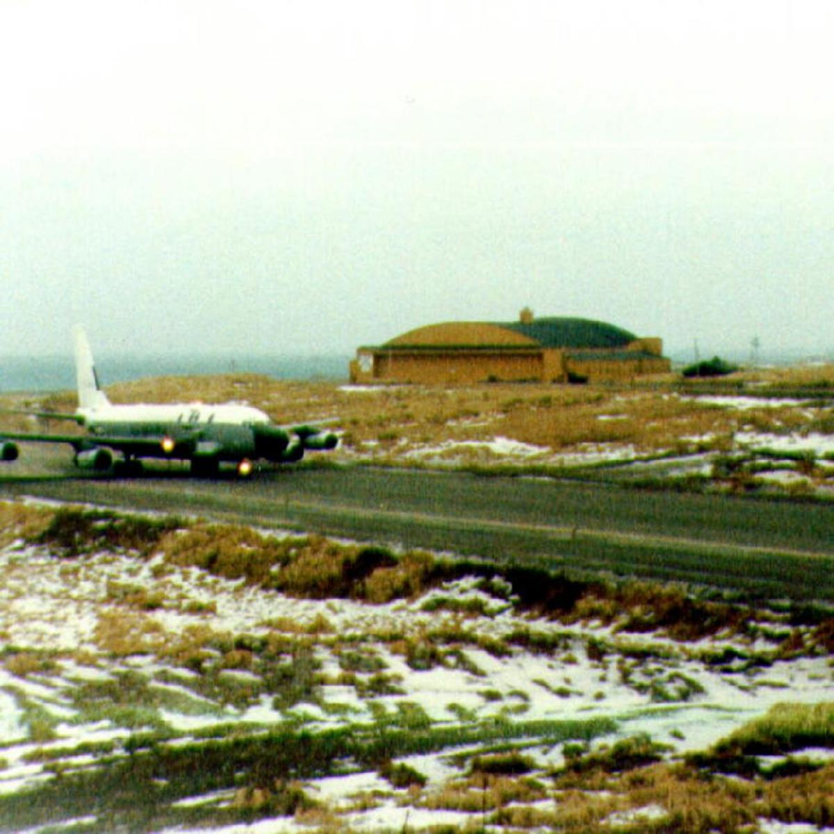 RC-135S Cobra Ball on the ramp at Shemya AFB, Alaska