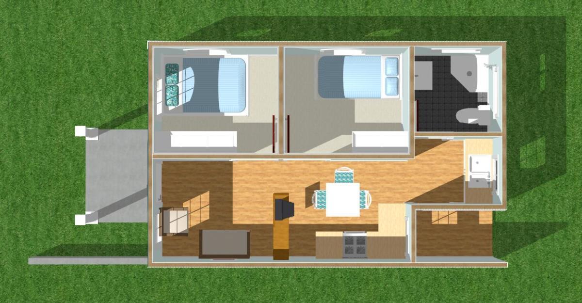 Jerry's House floor plan.