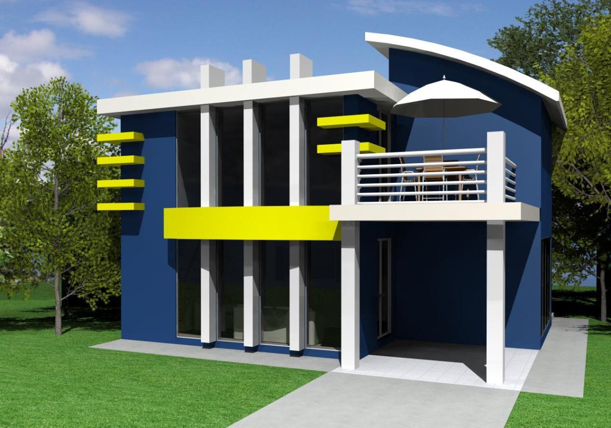 Simple Modern house.