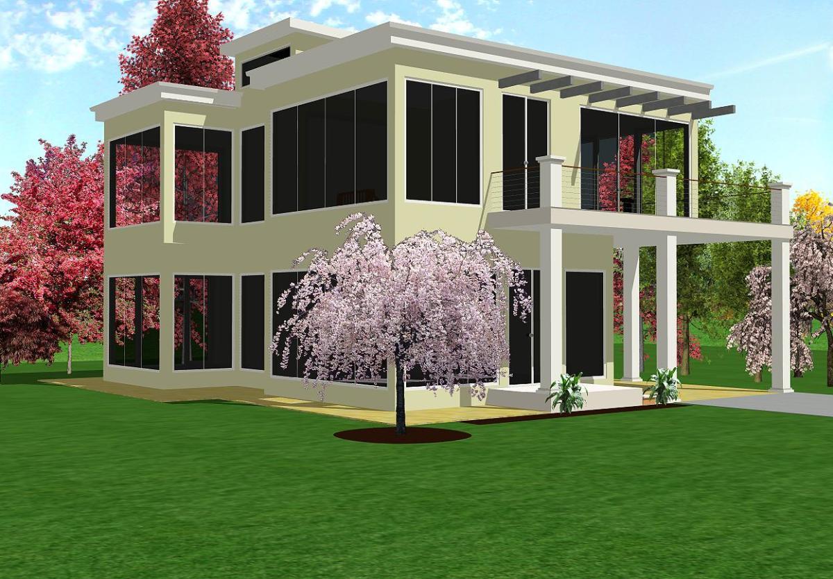 Modern House II exterior model.