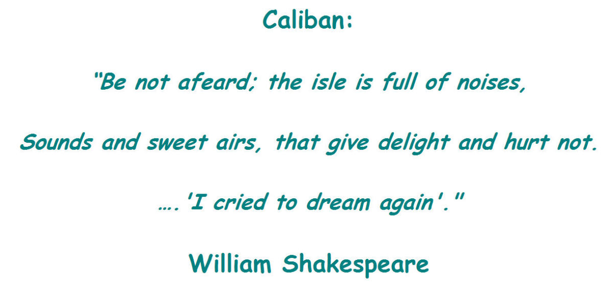 essay about caliban Essays on caliban on setebos we have found 60 essays caliban through threatening him with dangers of substantial inconveniences and irritations.
