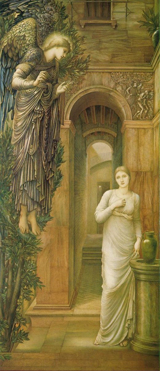 The Annunciation - The Archangel Gabriel Visits Mary the Mother of Christ