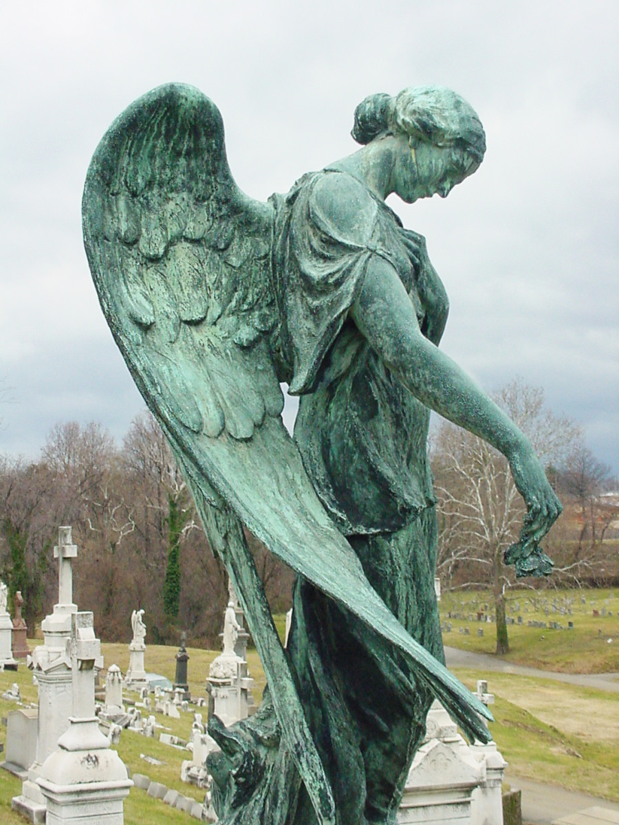 A beautiful old cemetery statue