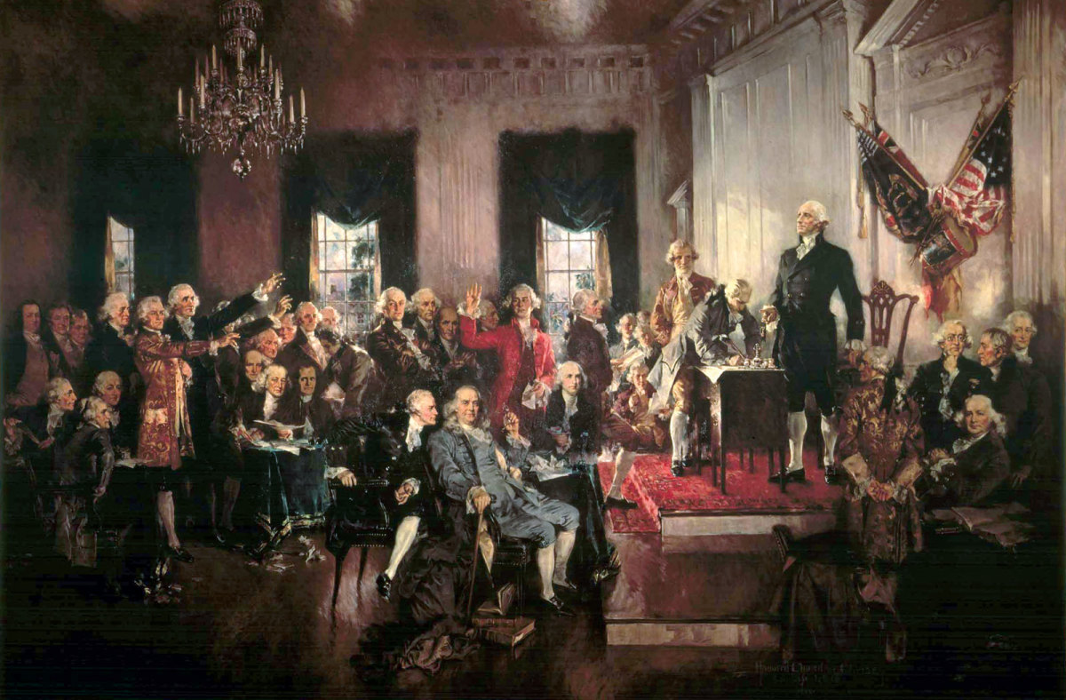 SIGNING OF THE UNITED STATES CONSTITUTION IN PHILADELPHIA