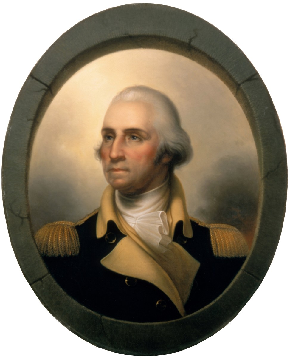 GEORGE WASHINGTON AS PAINTED BY REMBRANDT PEALE (1823)