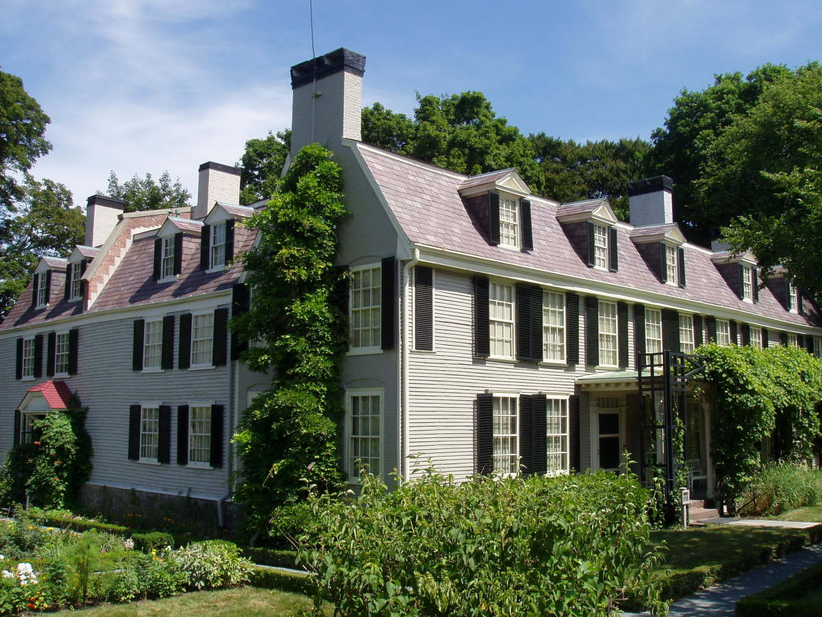 THE HOME OF JOHN ADAMS IN QUINCY, MASSACHUSETTS