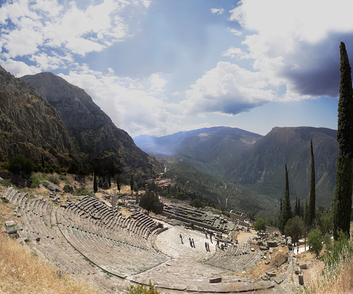 The ancient theater of Delphi.