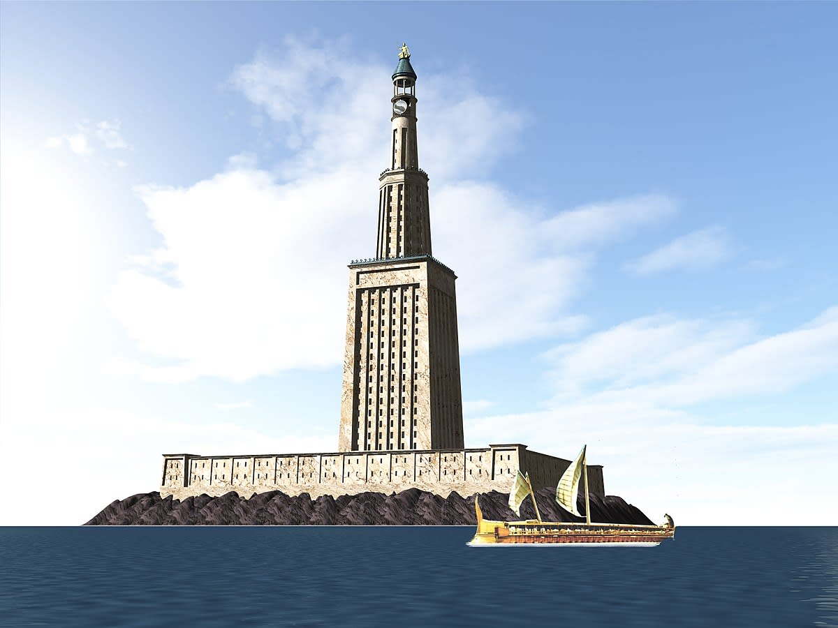 The Lighthouse of Alexandria, built under the rule of Ptolemy.