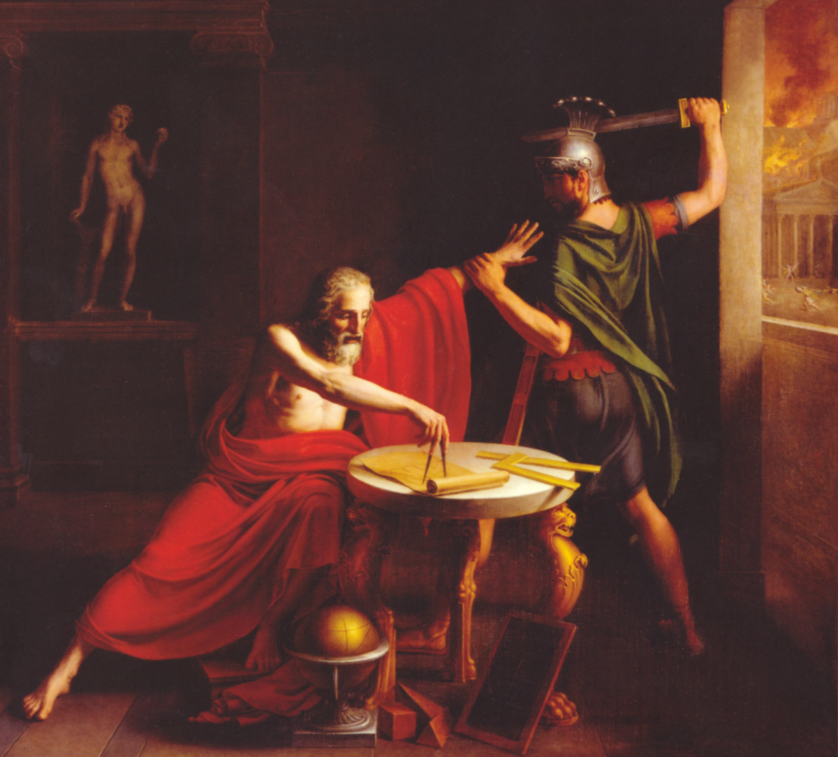 """""""Death of Archimedes"""" by Thomas Degeorge (1815)"""