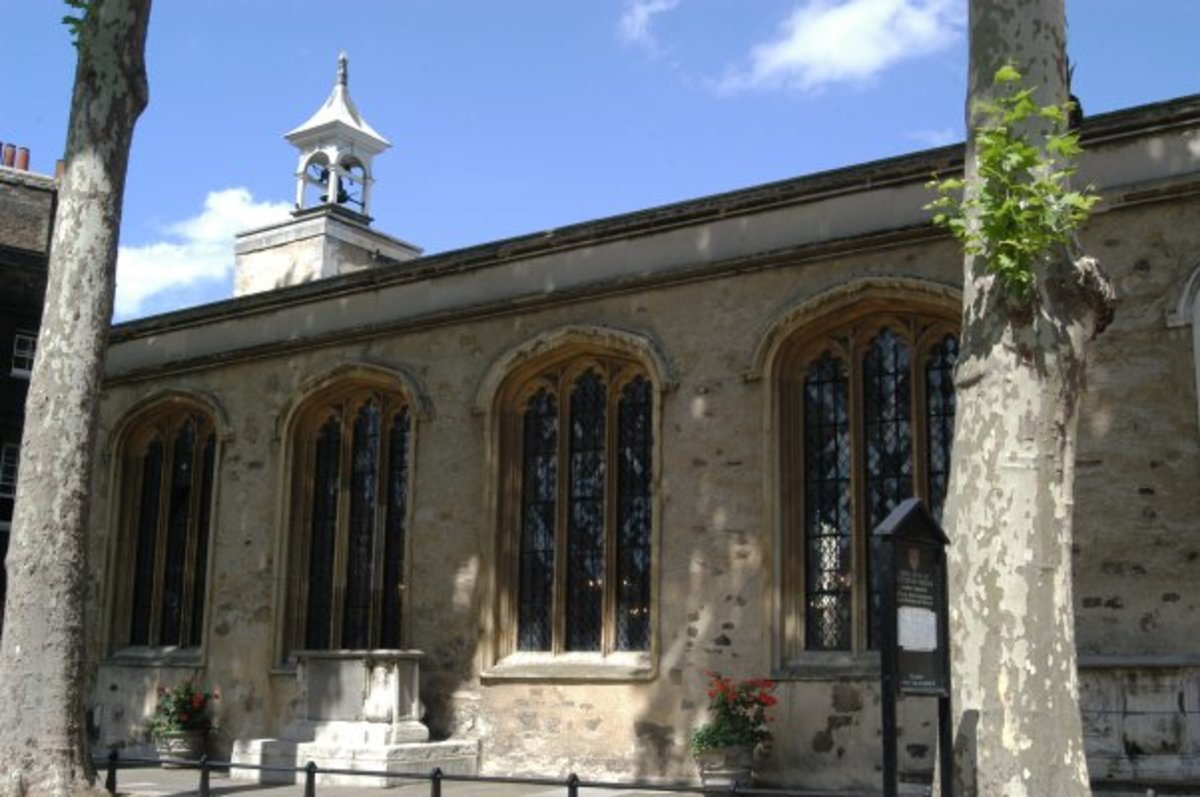 St. Peter ad Vincula chapel in the Tower of London. This is the burial place of Anne Boleyn and Catherine Howard.