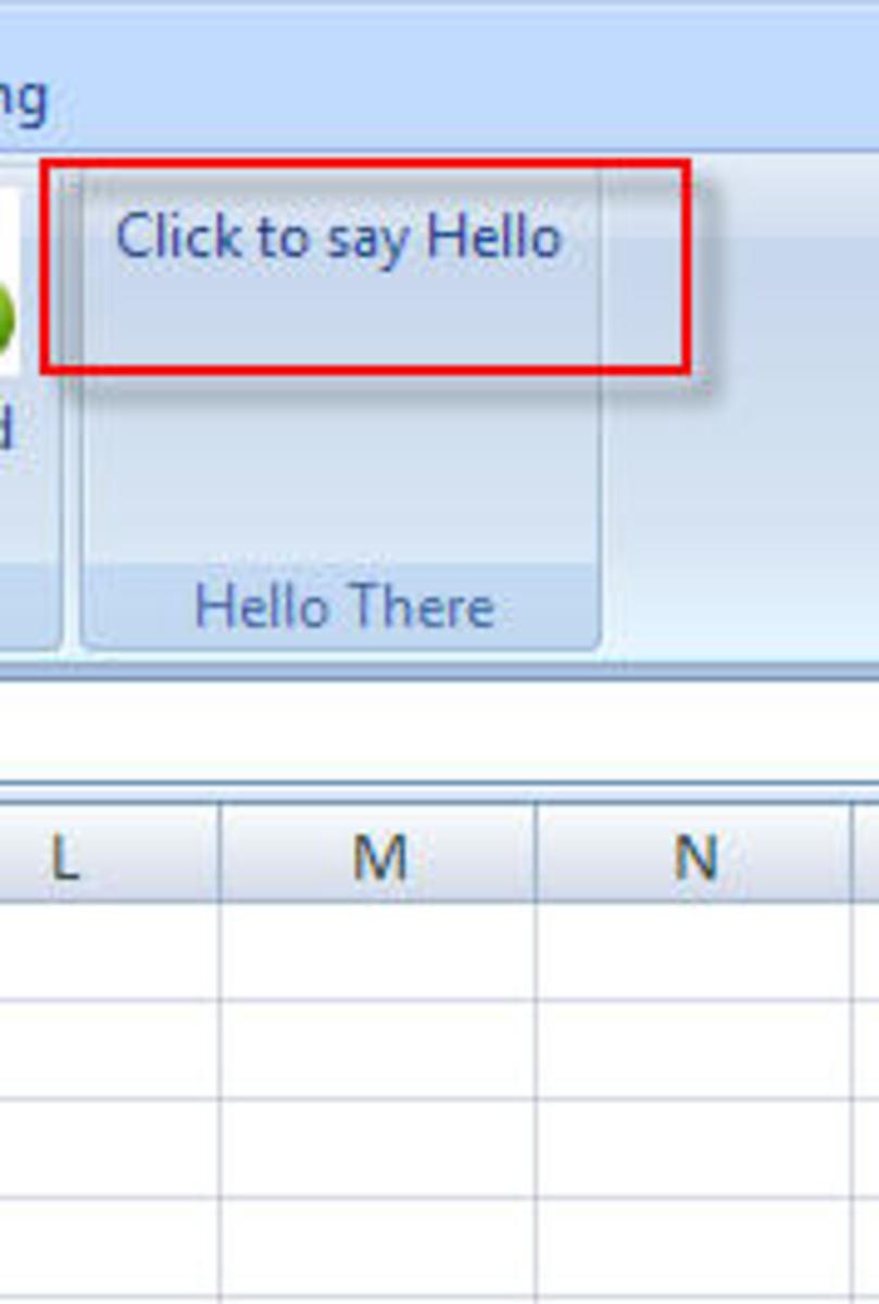 Click to say Hello Button