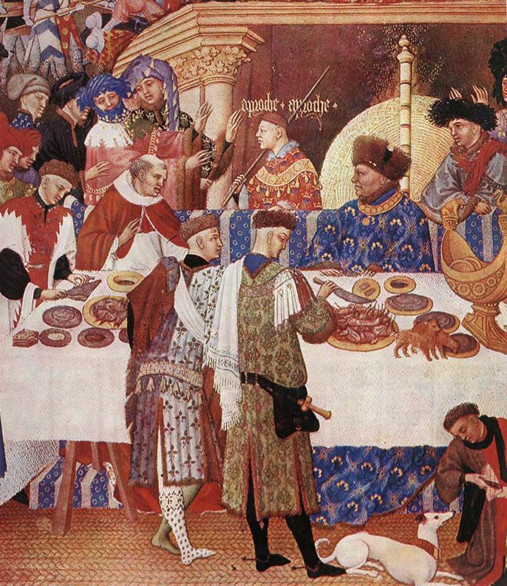 Medieval art depicts the hall as a place of feasting and celebration.