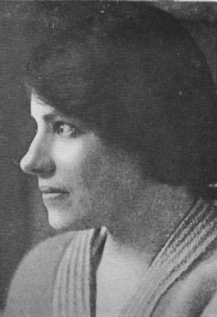 Profile photograph of Anna Anderson, who adopted the identity of Grand Duchess Anastasia of Russia in early 1922.