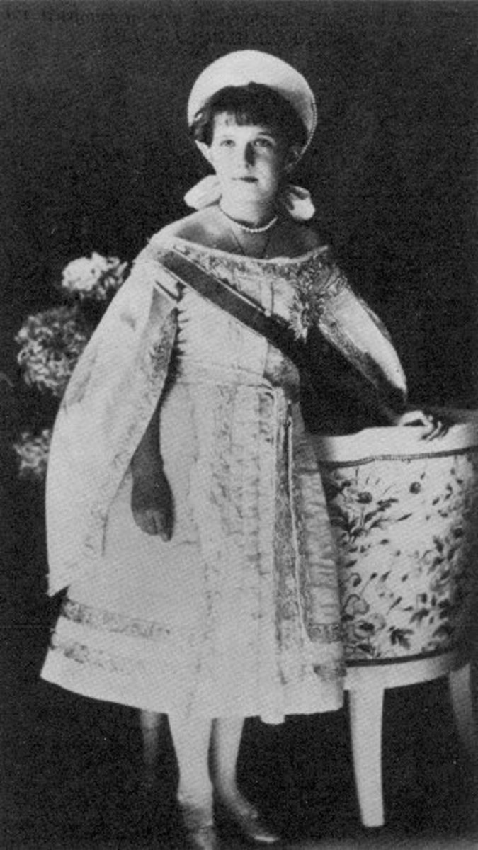 Taken wearing her gown, in 1910