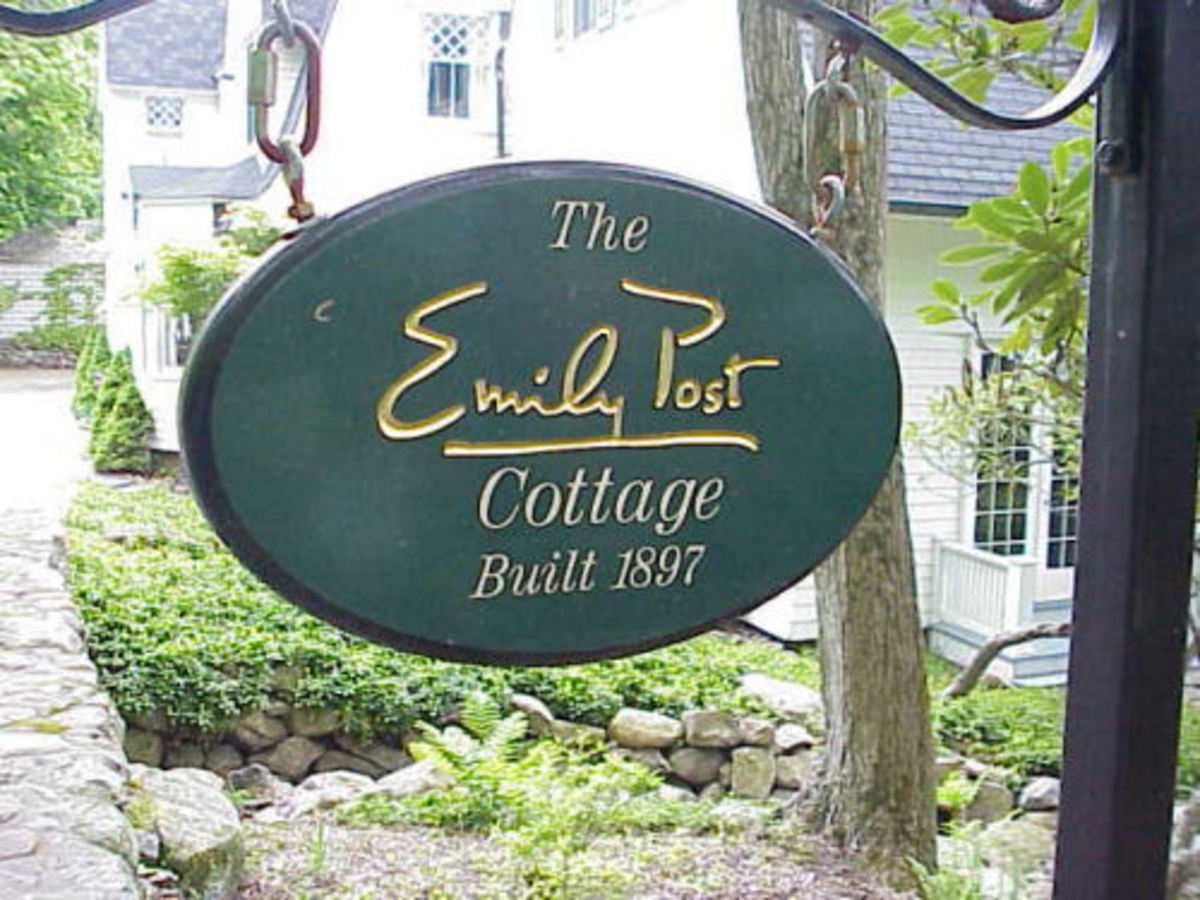 The Emily Post cottage in Tuxedo Park, New York.